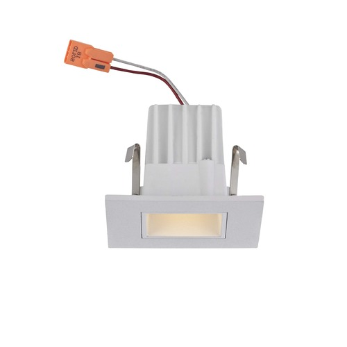 Recesso Lighting by Dolan Designs Square Trim LED Recessed Module for 2-Inch Cans - White Finish T204-WH
