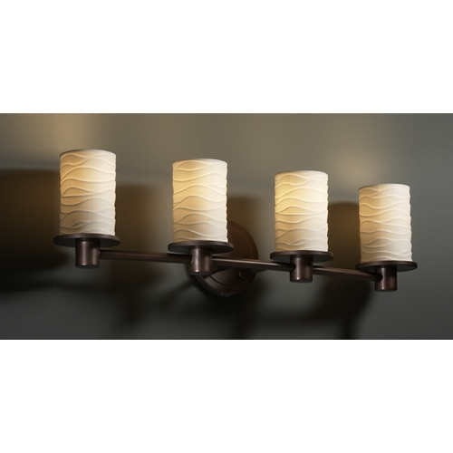 Justice Design Group Justice Design Group Limoges Collection Bathroom Light POR-8514-10-WAVE-DBRZ