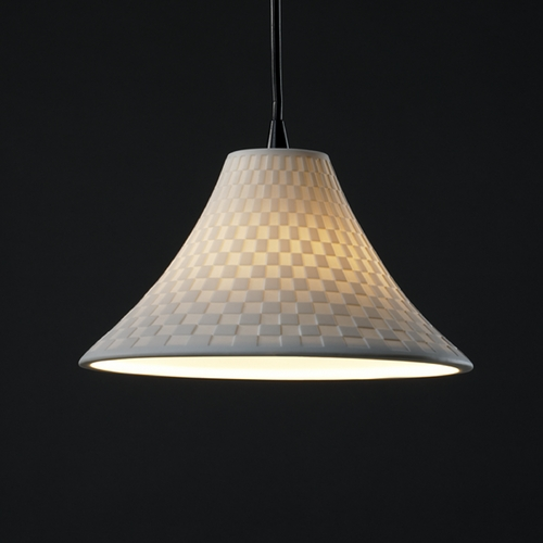 Justice Design Group Justice Design Group Limoges Collection Mini-Pendant Light POR-8860-20-CHKR-MBLK