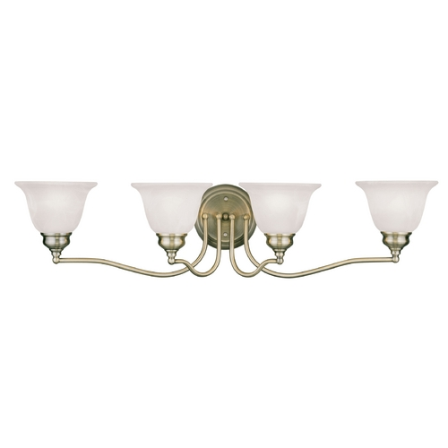 Livex Lighting Livex Lighting Essex Antique Brass Bathroom Light 1354-01