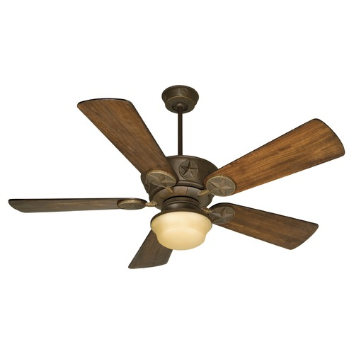 Craftmade Lighting Craftmade Lighting Chaparral Aged Bronze Textured Ceiling Fan with Light K10510