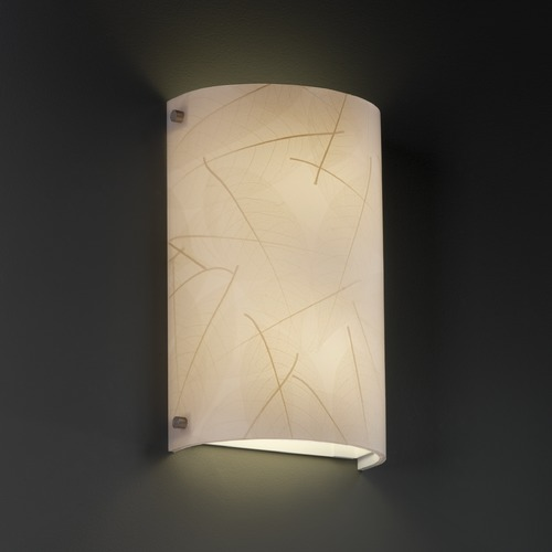Justice Design Group Justice Design Group Finials Family Brushed Nickel Sconce 3FRM-5541-LEAF-NCKL