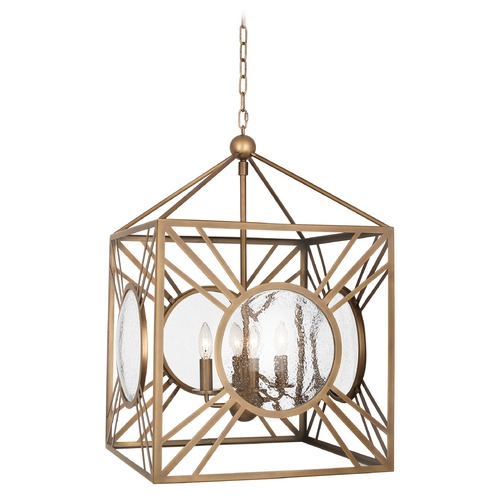 Robert Abbey Lighting Robert Abbey Lighting Fineas Aged Brass Pendant Light 1420