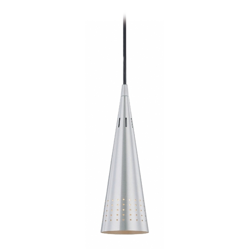 Lite Source Lighting Lite Source Lighting Silko Mini-Pendant Light with Conical Shade LS-19975ALU