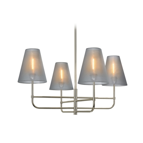 Sonneman Lighting Chandelier with Silver Shades in Polished Nickel Finish 1965.35