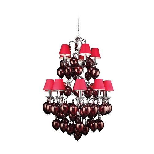 PLC Lighting Modern Chandelier with Clear Glass in Polished Chrome Finish 70027  CLEAR/ PC