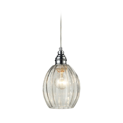 Elk Lighting Mini-Pendant Light with Clear Glass 46017/1