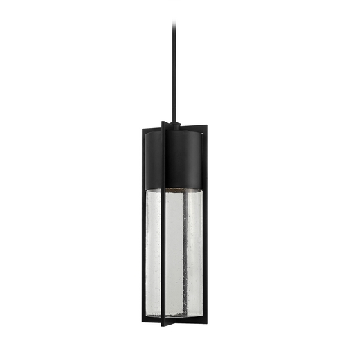 Hinkley Lighting Modern Outdoor Hanging Light with Clear Glass in Black Finish 1328BK-GU24