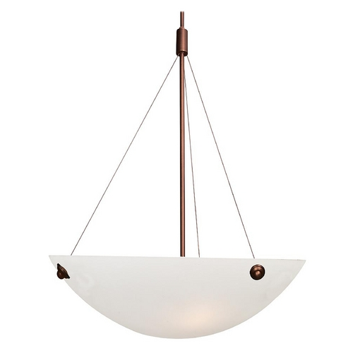 Access Lighting Access Lighting Noya Bronze Pendant Light with Bowl / Dome Shade 23072-BRZ/WHT