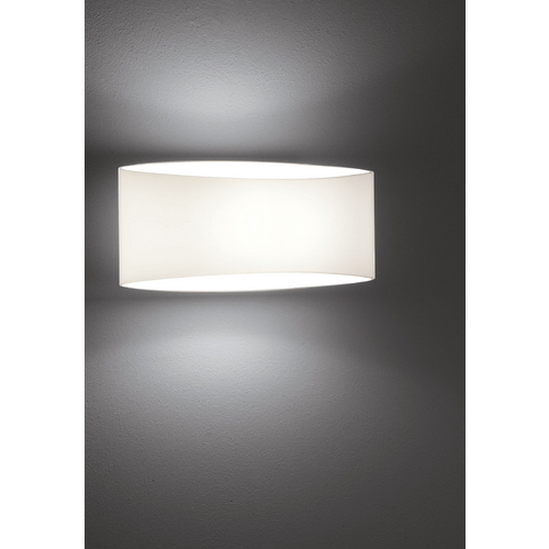 Holtkoetter Lighting Holtkoetter Modern Sconce Wall Light with White Glass in White Finish 8502 WH