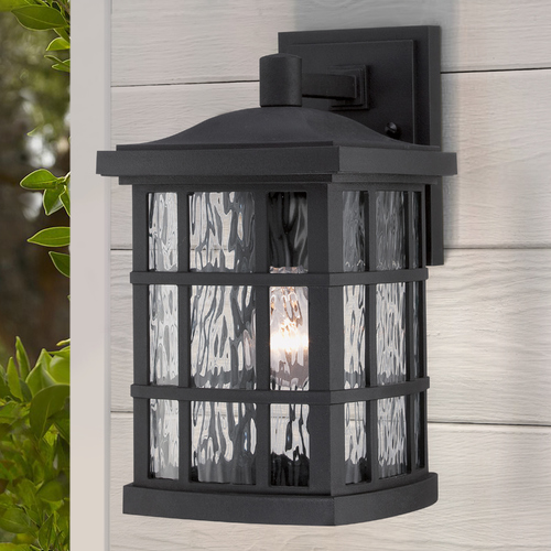 Quoizel Lighting Quoizel Stonington Mystic Black Outdoor Wall Light SNN8408K