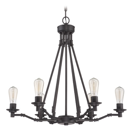 Jeremiah Lighting Jeremiah Lighting Hadley Aged Bronze Chandelier 37826-ABZ
