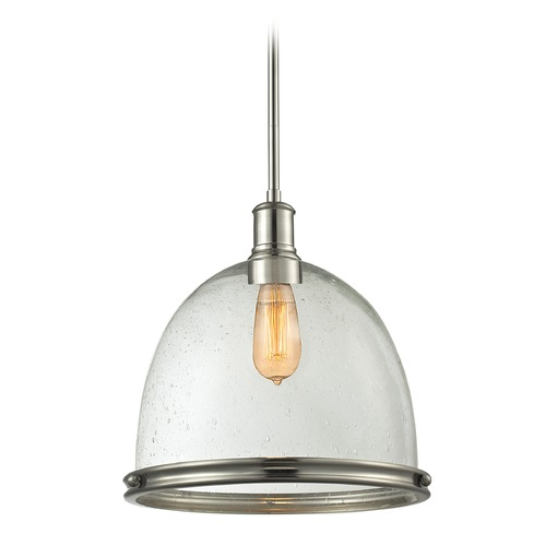 Z-Lite Z-Lite Mason Brushed Nickel Pendant Light with Bowl / Dome Shade 718P13-BN