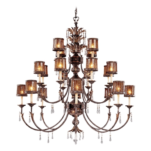 Metropolitan Lighting Crystal Chandelier with Brown Glass in Sanguesa Patina Finish N6069-194