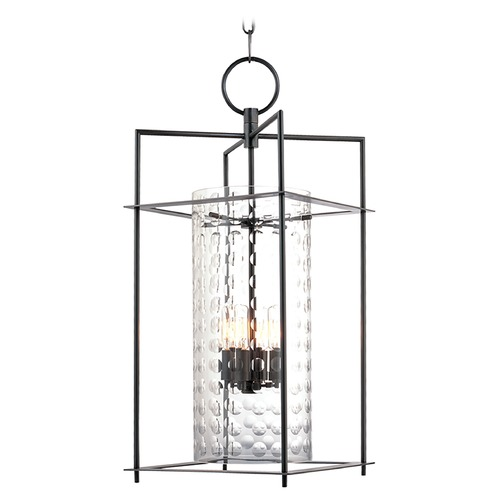 Hudson Valley Lighting Modern Pendant Light with Clear Glass in Old Bronze Finish 7612-OB