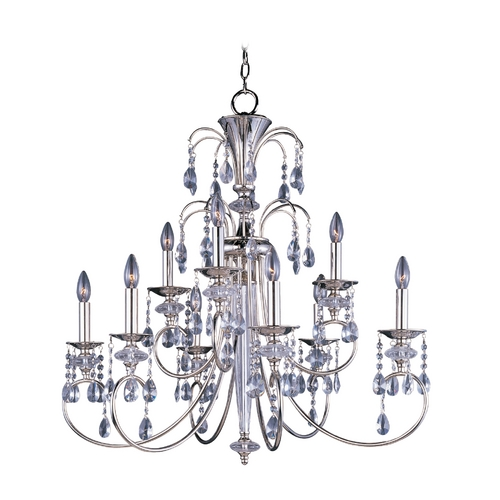 Maxim Lighting Chandelier in Polished Nickel Finish 24307CLPN