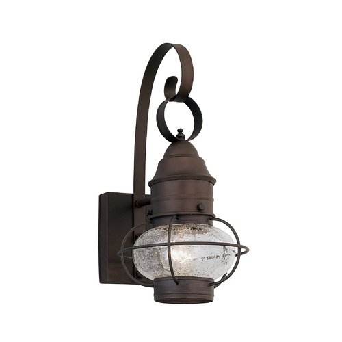Designers Fountain Lighting Seeded Glass Outdoor Wall Light Bronze Designers Fountain Lighting 1751-RT