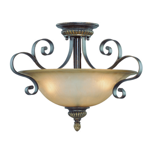 Jeremiah Lighting Jeremiah Kingsley Century Bronze Semi-Flushmount Light 26533-CB