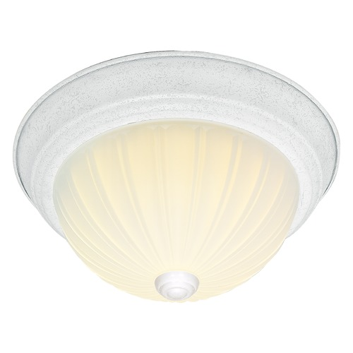 Nuvo Lighting Nuvo Lighting Textured White Flushmount Light SF76/129