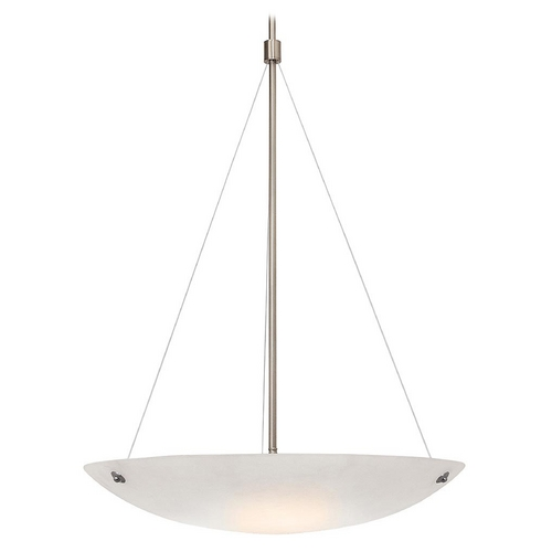 Access Lighting Access Lighting Noya Brushed Steel Pendant Light 23072-BS/WHT
