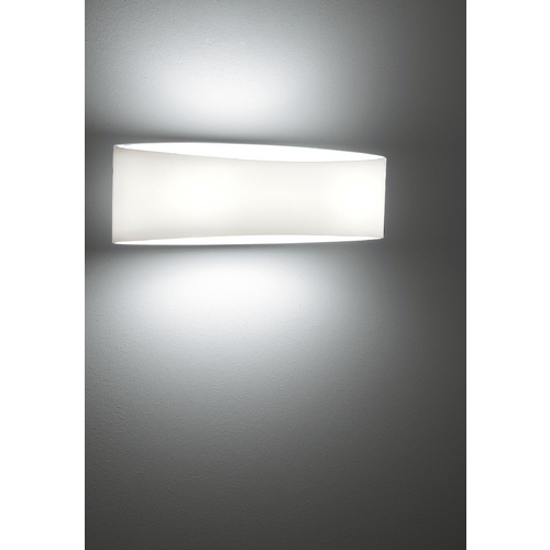 Holtkoetter Lighting Holtkoetter Modern Sconce Wall Light with White Glass in White Finish 8503 WH