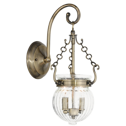 Livex Lighting Livex Lighting Everett Antique Brass Sconce 50501-01