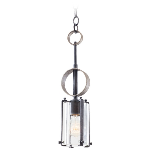 Kalco Lighting Kalco Lighting Irvine Vintage Iron Mini-Pendant Light with Cylindrical Shade 7095VI