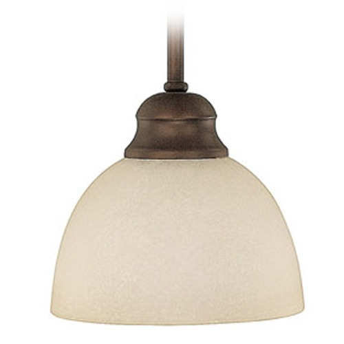 Capital Lighting Capital Lighting Stanton Burnished Bronze Mini-Pendant Light with Bowl / Dome Shade 4031BB-207
