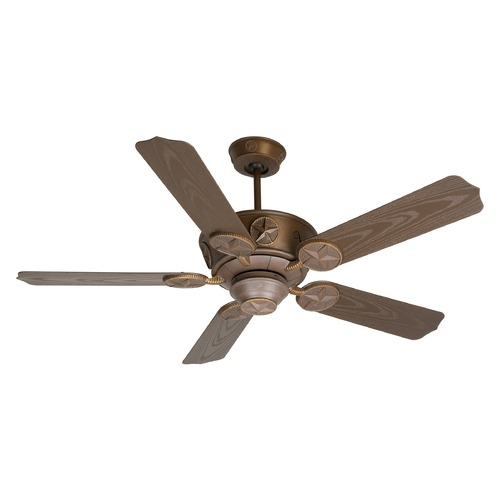 Craftmade Lighting Craftmade Lighting Chaparral Aged Bronze Textured Ceiling Fan Without Light K10512