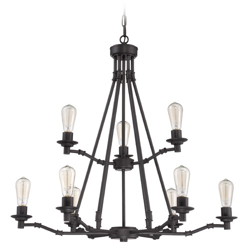 Jeremiah Lighting Jeremiah Lighting Hadley Aged Bronze Chandelier 37829-ABZ