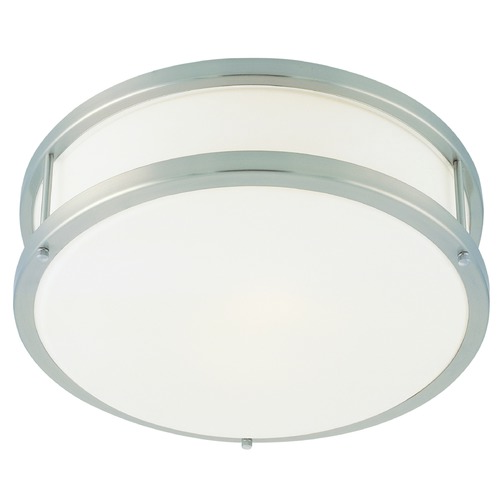 Access Lighting Access Lighting Conga Brushed Steel LED Flushmount Light 50079LEDD-BS/OPL