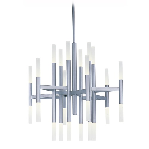 Maxim Lighting Maxim Lighting Pinnacle LED Metallic Silver LED Chandelier 39756FTMS