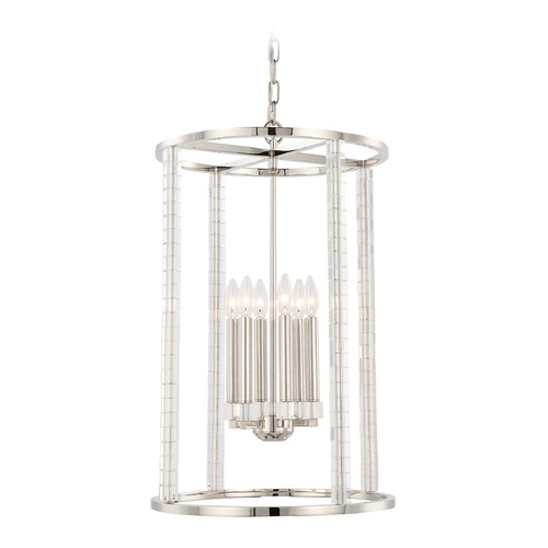 Crystorama Lighting Crystorama Lighting Carson Polished Nickel Pendant Light 8859-PN