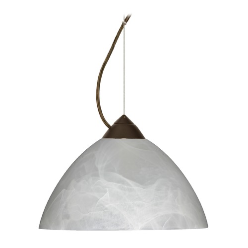 Besa Lighting Besa Lighting Tessa Bronze LED Pendant Light with Bell Shade 1KX-420152-LED-BR
