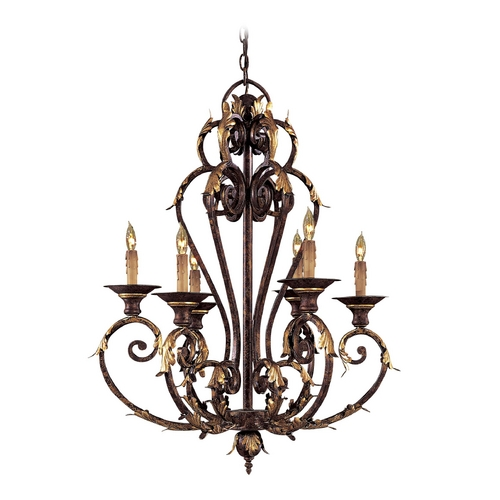 Metropolitan Lighting Chandelier in Golden Bronze Finish N6235-355