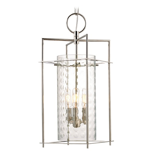 Hudson Valley Lighting Modern Pendant Light with Clear Glass in Polished Nickel Finish 7612-PN