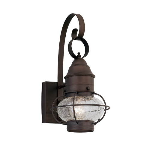 Designers Fountain Lighting Seeded Glass Outdoor Wall Light Bronze Designers Fountain Lighting 1761-RT