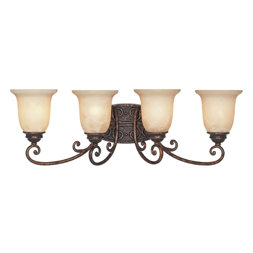 Designers Fountain Lighting Bathroom Light with Beige / Cream Glass in Burnt Umber Finish 97504-BU