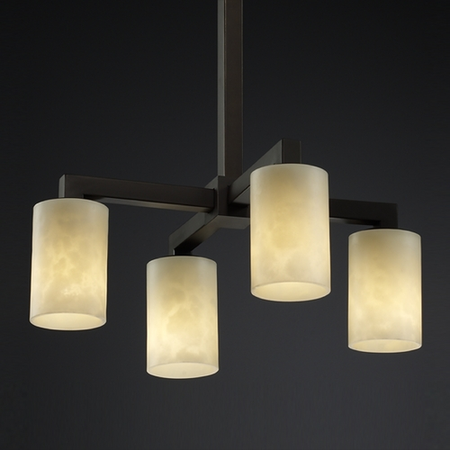 Justice Design Group Justice Design Group Clouds Collection Mini-Chandelier CLD-8920-10-DBRZ