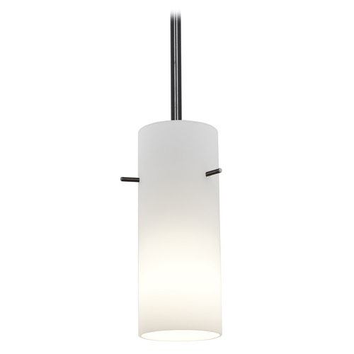 Access Lighting Modern Mini-Pendant Light with White Glass 28030-1R-ORB/OPL