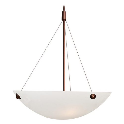 Access Lighting Access Lighting Noya Bronze Pendant Light with Bowl / Dome Shade 23073-BRZ/WHT