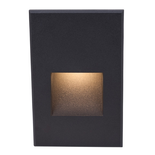 WAC Lighting WAC Lighting Black LED Recessed Step Light with Amber LED WL-LED200-AM-BK
