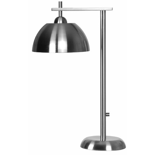 Kenroy Home Lighting Kenroy Home Lighting Boland Brushed Steel Table Lamp 32476BS