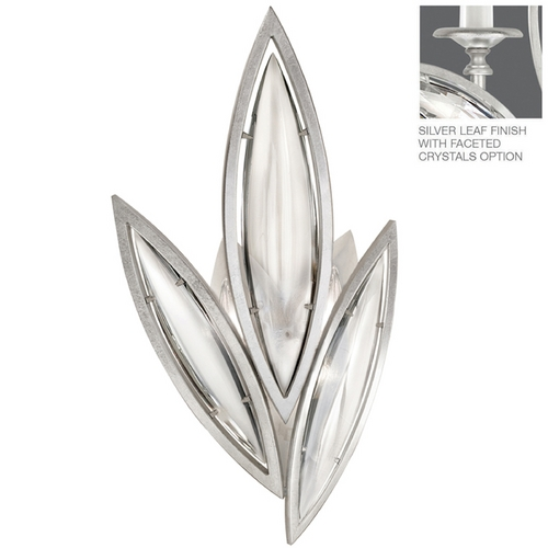 Fine Art Lamps Fine Art Lamps Marquise Platinized Silver Leaf Sconce 849250-12ST