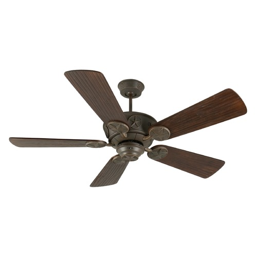 Craftmade Lighting Craftmade Lighting Chaparral Aged Bronze Textured Ceiling Fan Without Light K10513
