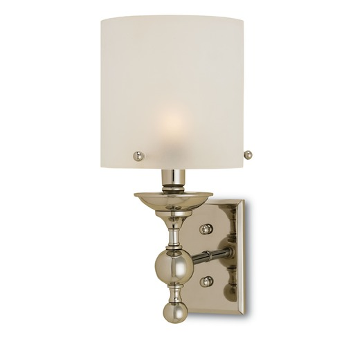 Currey and Company Lighting Currey and Company Pennsbury Polished Nickel Sconce 5198