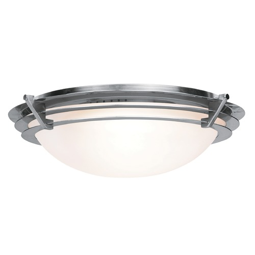 Access Lighting Access Lighting Saturn Brushed Steel LED Flushmount Light 50091LEDD-BS/FST