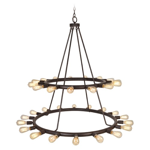 Crystorama Lighting Crystorama Lighting Dakota Charcoal Bronze Chandelier 9049-CZ