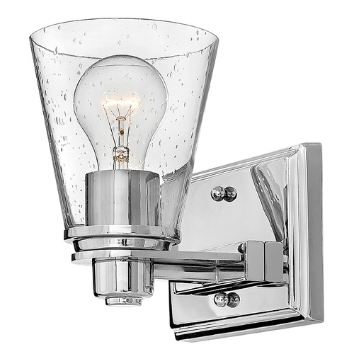 Hinkley Hinkley Avon Chrome Sconce with Clear Seeded Glass 5550CM-CL