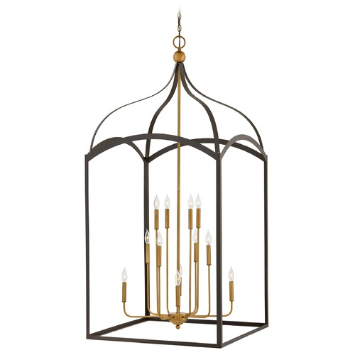 Hinkley Hinkley Clarendon 12-Light Bronze / Heirloom Brass Chandelier 3419BZ